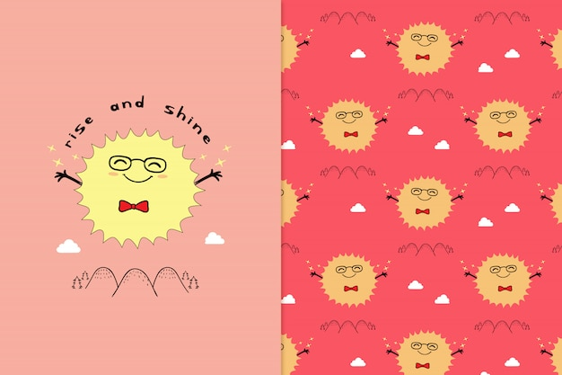 Rise and shine pattern