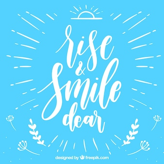 Rise and smile background