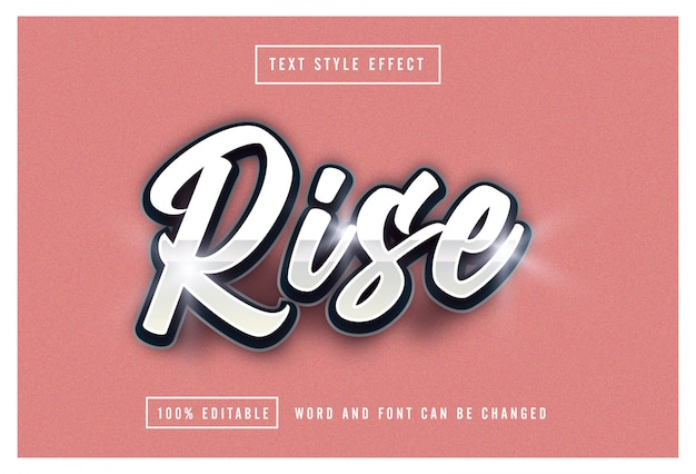 Rise text effect editable