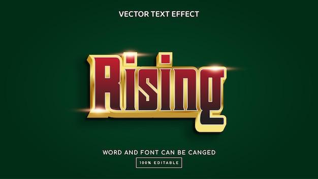 Rising 3d editable text effect template
