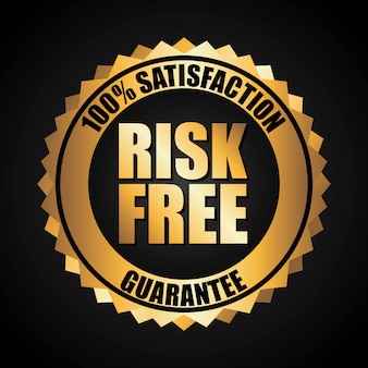 Risk free over black background vector illustration