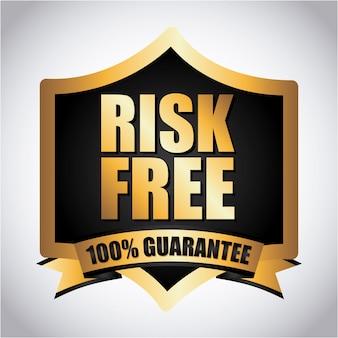 Risk free over gray background vector illustration
