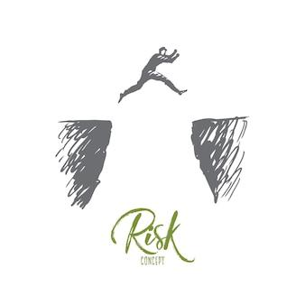 Иллюстрация риска в рисованной