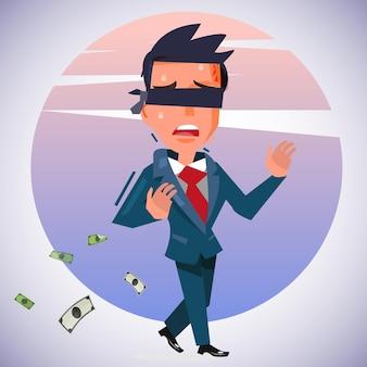 시각 장애인 사업가와의 비즈니스 위험