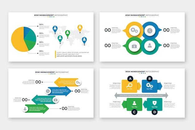 위험 관리 인포 그래픽 디자인