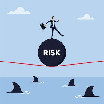 Концепция риска для успеха векторные иллюстрации
