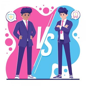 Rivalry concept business people characters illustration