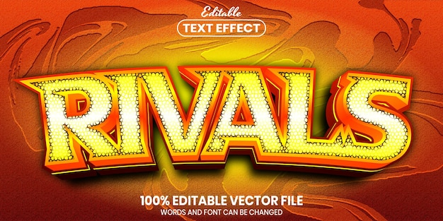 Rivals text, font style editable text effect