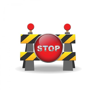 Road barrier sign icon