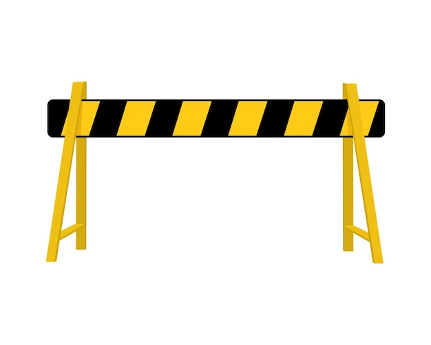 Road barrier striped traffic obstacle