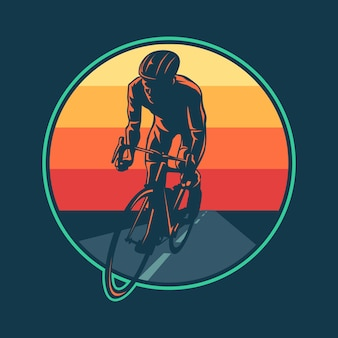 Плоский дизайн шоссейного велосипеда