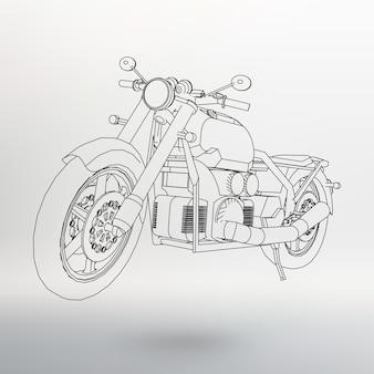 ロードバイク。等高線のオートバイ。オートバイのシルエット。オートバイの輪郭