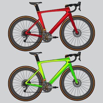 ロードバイクのベクトル