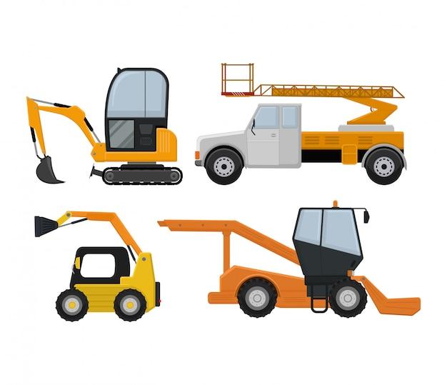 Road cleaning machine excavator tractor