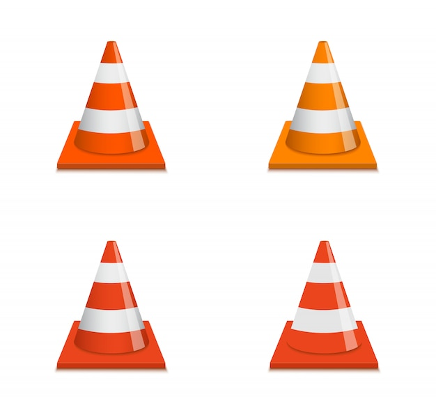 Road cone vector realistic