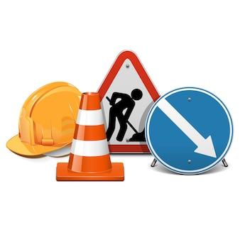 도로 건설 개념