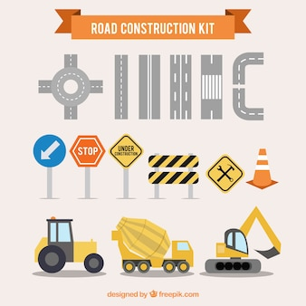 Road construction kit