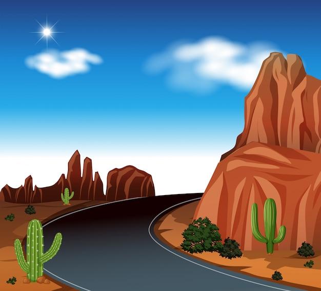 A road at desert