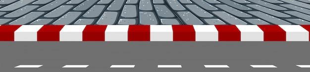 A road footpath scene