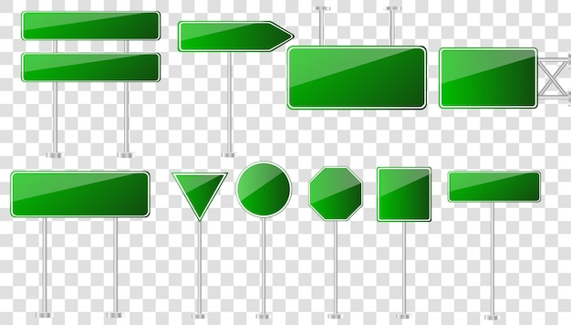 Road green traffic sign.road board text panel, mockup signage direction highway city signpost location.