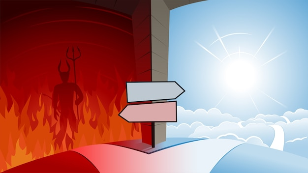 Road to heaven and road to hell