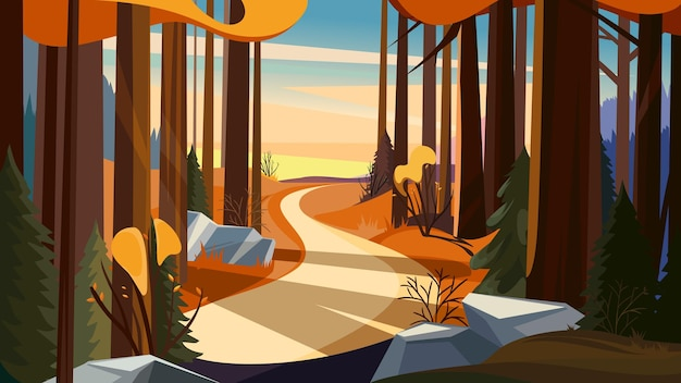 해질녘가 숲에서도. 아름 다운 자연 풍경입니다.