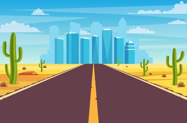 사막의 도로