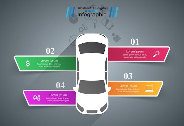 Шаблон дорожного инфографического дизайна