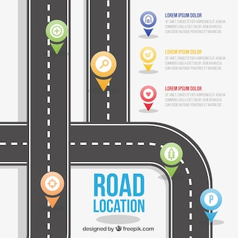 Road location template