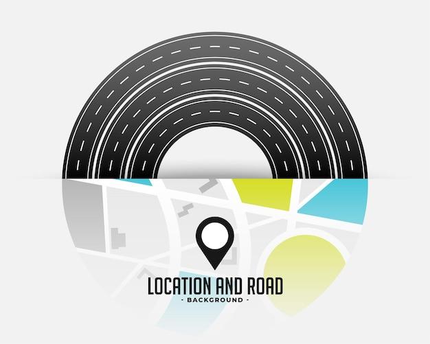 로드맵 통로 여행 디자인
