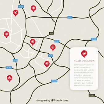Дорожная карта с указателями