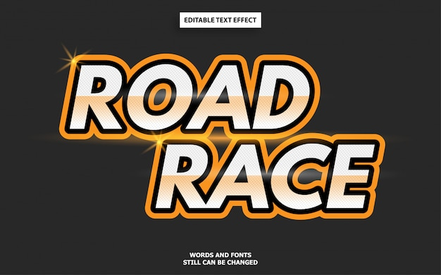 Road race motor cycle style editable font effect
