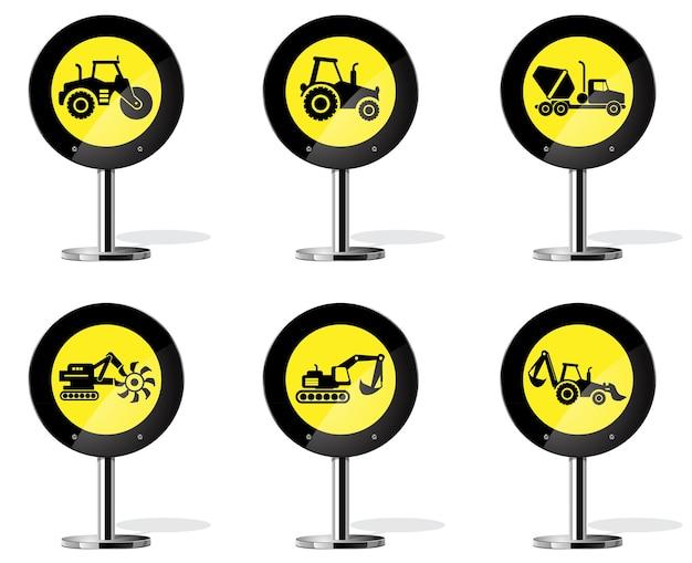 道路標識アイコン-産業機械