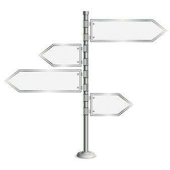 Road sign signpost isolated