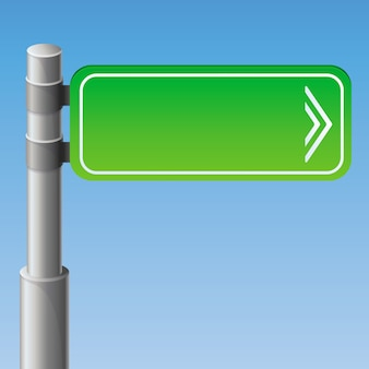 Road sign with copy space for text and arrow icon