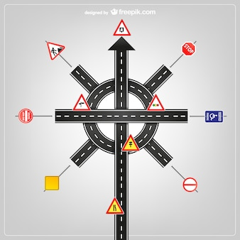 Road signs and traffic signs