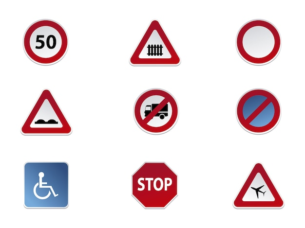 Road signs icon collection