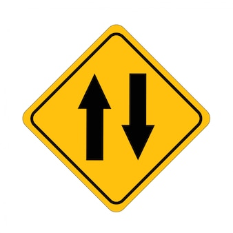 Road signs two way exchange street