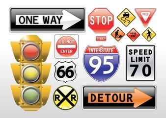 道路標識のベクトル