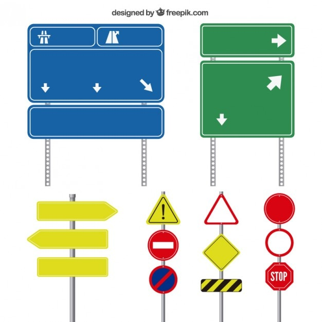 road sign vectors photos and psd files free download rh freepik com road sign vector art vector signboard free download