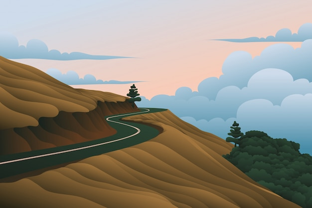 Road above the sky