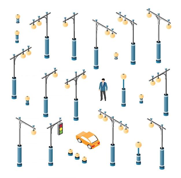 The road streetlight set