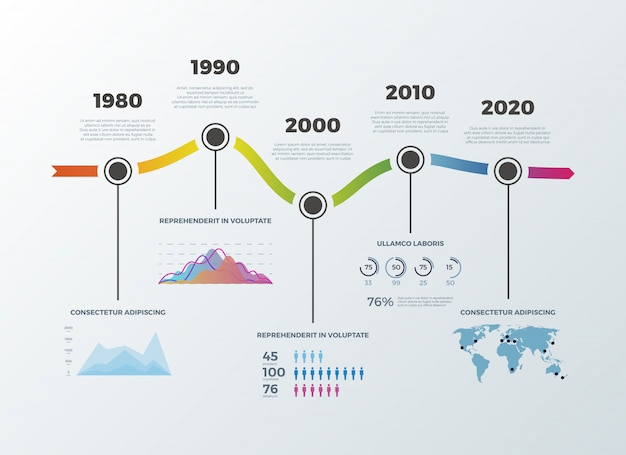 Road timeline infographic for workflow layout banner diagram number options