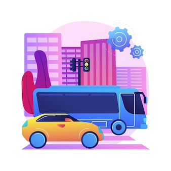 Illustrazione di trasporto su strada