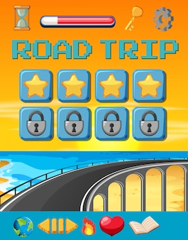 A road trip game template
