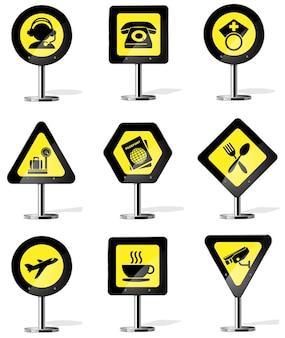 Дорожный желтый предупреждающий знак