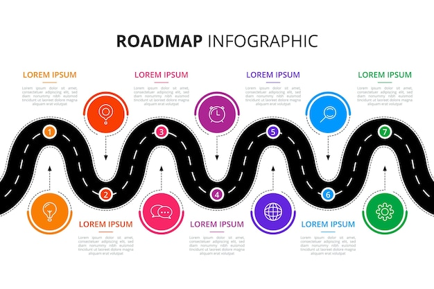 Roadmap infographic template