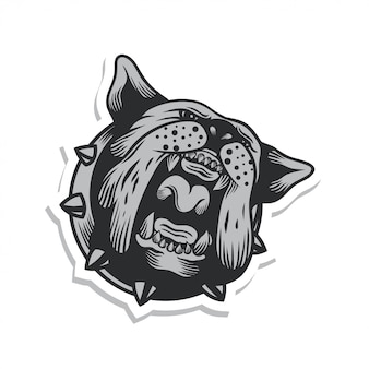 Roar bulldog sticker