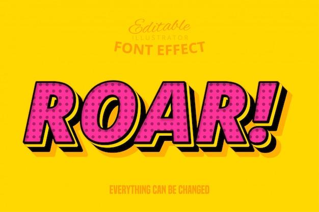 Roar! text, editable font effect