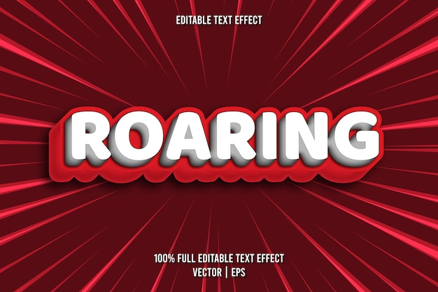 Roaring editable text effect comic style
